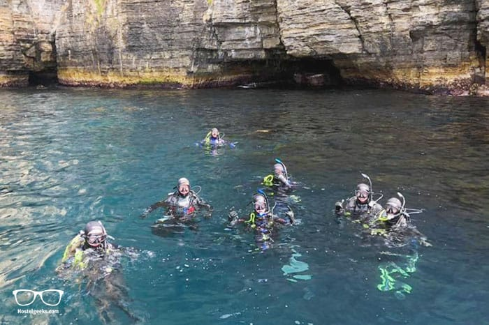 Going scuba diving is one of the fun things to do in Tasmania, Australia