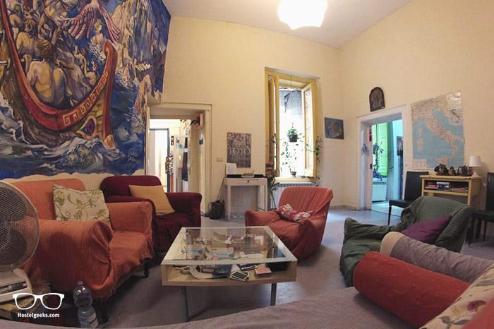 6 Small Rooms is one of the best hostels in Naples, Italy for backpackers