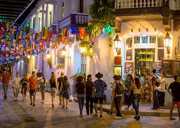 Backpacker District in Getsemani, Cartagena