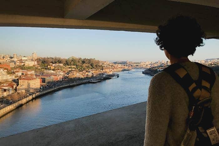 Climb a bridge in Porto