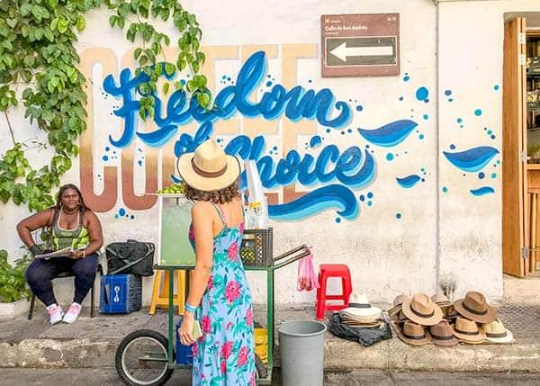 Freedom of choice - street art in getsemani