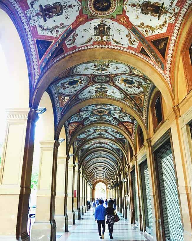 See the millions of arches when you visit Bologna