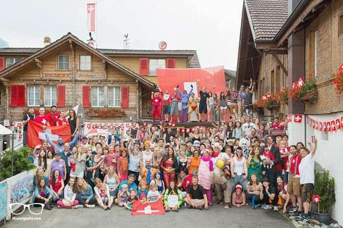 Balmers Hostel is one of the best party hostels in Interlaken, Switzerland