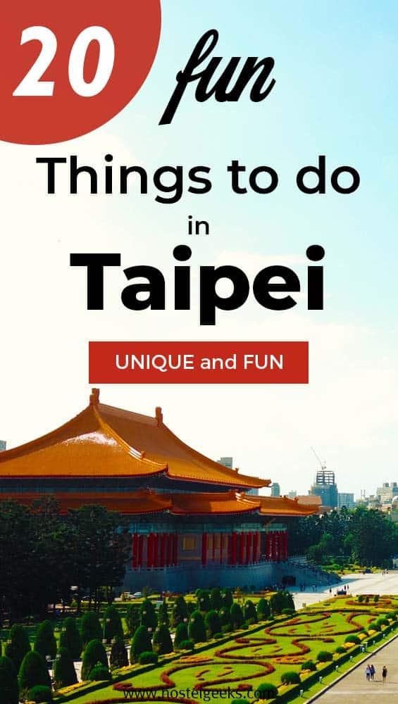 20 Fun things Taipei.