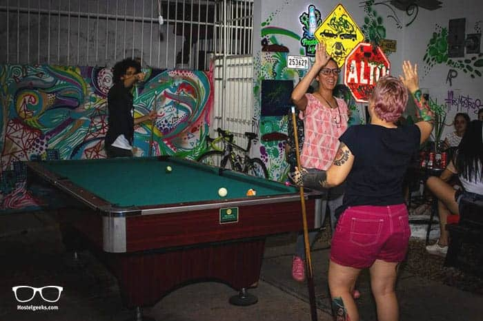 Los Mostros Hostel is one of the best party hostels in Panama City, Panama
