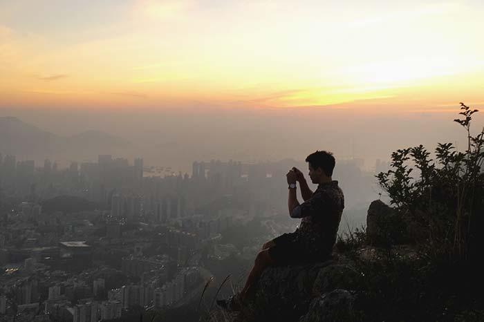 The peak in Hong kong during sunset