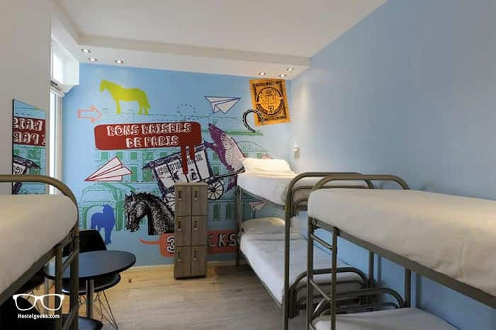The 3 Ducks Eiffel Tower by Hiphophostel is one of the best hostels in Paris, France