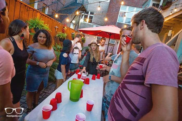 Auberge NOLA Hostel in New Orleans, USA is one of the best party hostels in the world