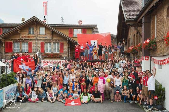 Balmers Hostels in Interlaken, Switzerland is one of the best party hostels in the world
