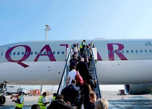 Entering Qatar Airways