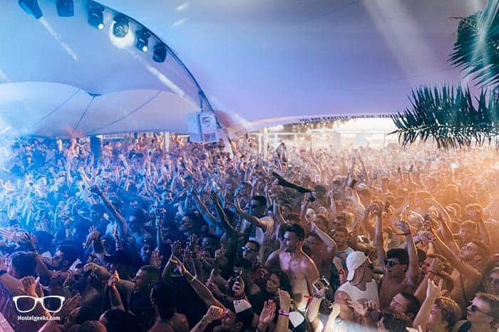 Far Out Beach Club in Ios, Greece is one of the best party hostels in the world