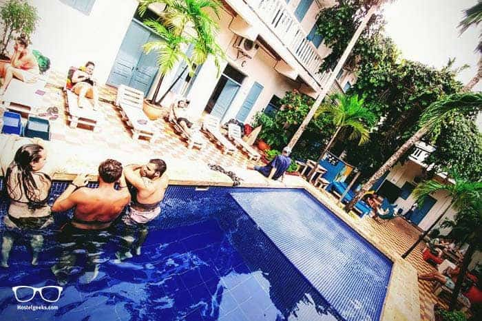 Media Luna Hostel in Cartagena de Indias, Colombia is one of the best party hostels in the world