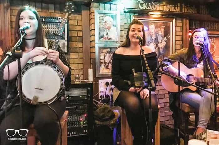 Oliver St. John Gogarty in Dublin, Ireland is one of the best party hostels in the world