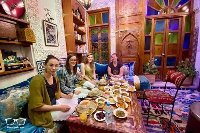 Riad Verus in Fes, Morocco is one of the best party hostels in the world
