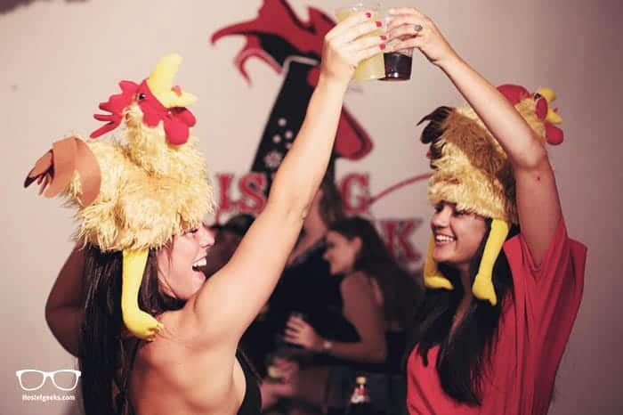 Rising Cock Party Hostel in Lagos, Portugal is one of the best party hostels in the world