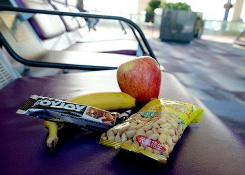 Bringing Snacks for the Flights