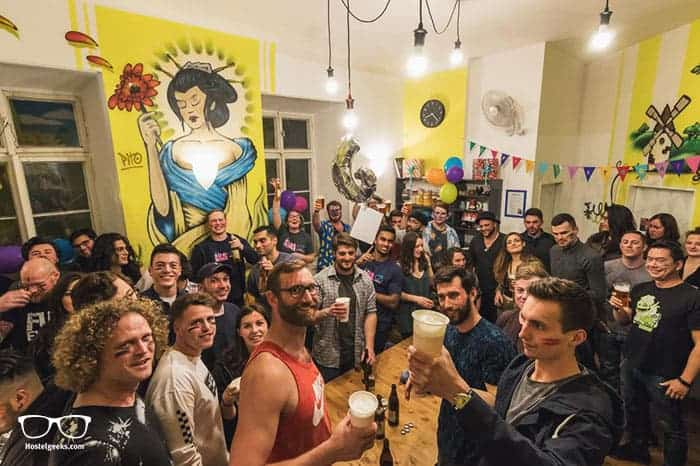 The Madhouse Prague is one of the best party hostels in the world