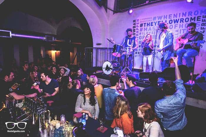 YellowSquare in Rome, Italy is one of the best party hostels in the world