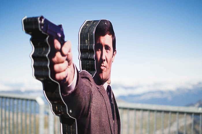 James Bond in Schilthorn