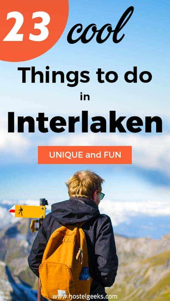 Cool things to do in Interlaken