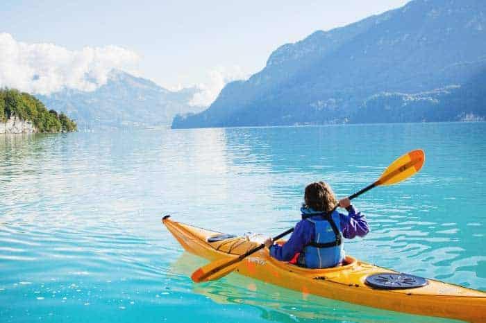 kayak in Interlaken