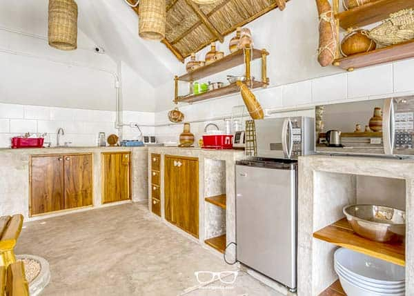 Selina has its own backpacker hostel kitchen in Tulum