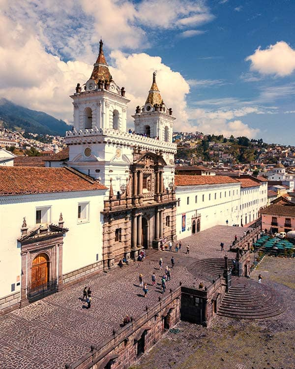 Oldtown in Quito, Ecuador