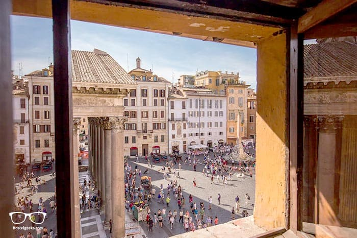 """Airbnb in Rome offering the """"best views"""", part of our full guide to the best Airbnbs in Rome, Italy"""