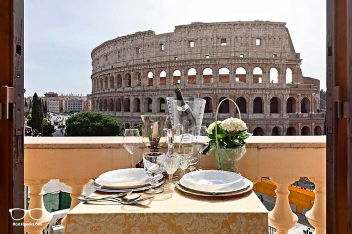 """Best Airbnb with """"Colosseum Views"""", part of the best Airbnbs in Rome, Italy guide"""