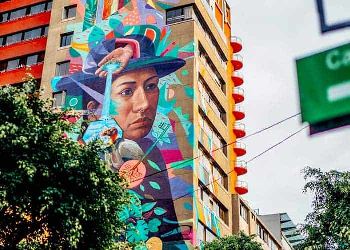 Beautiful Hostel Building: Graffiti decorating the facade of Selina Hostel Miraflores, Lima