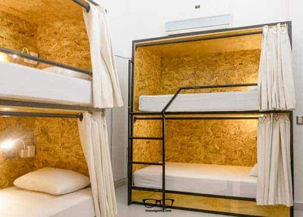 Luxury dorms with privacy Curtains at Nomads Boutique Hostel and Hotel