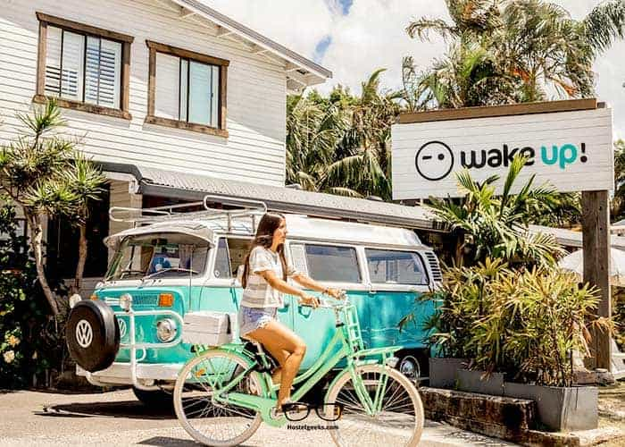 WakeUp! - One of the coolest Hostels in Byron Bay, Australia - that VW bus is just gorgeous!