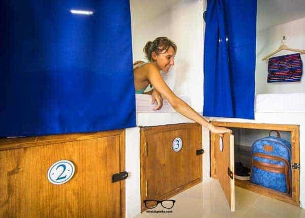 Safe dorms and lockers: Casa del Puerto Hostel in Cartagena, Colombia