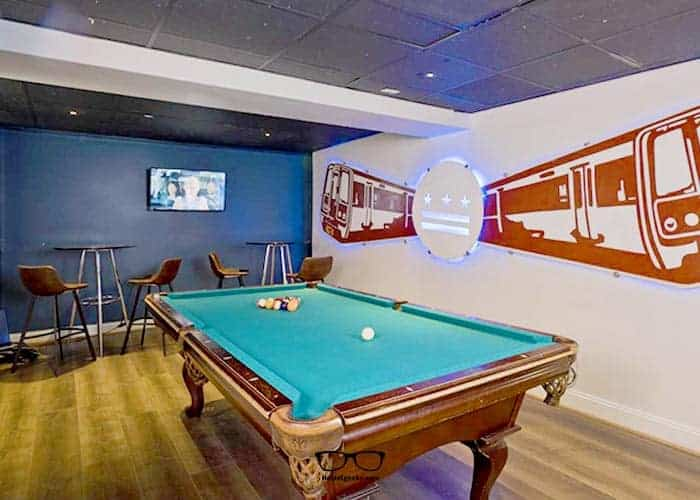 Youth hostels and playing pool billiard? It goes hand in hand