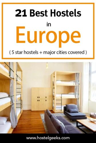 A complete guide to the best hostels in Europe for solo travellers - including EPIC 5 star hostels