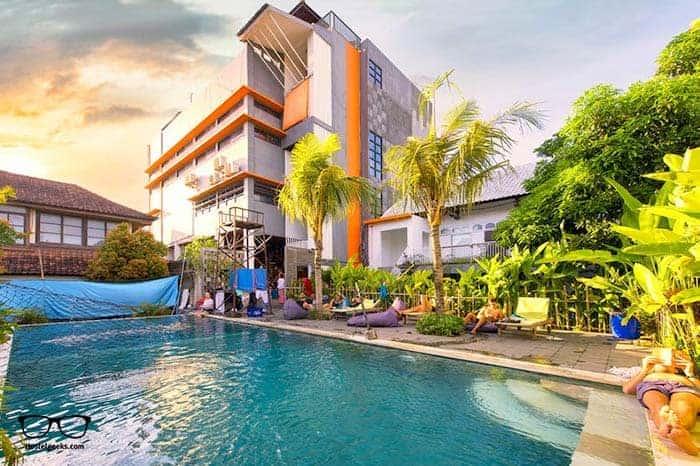 Capsule Hotel in Seminyak is one of the best hostels in Bali, Indonesia