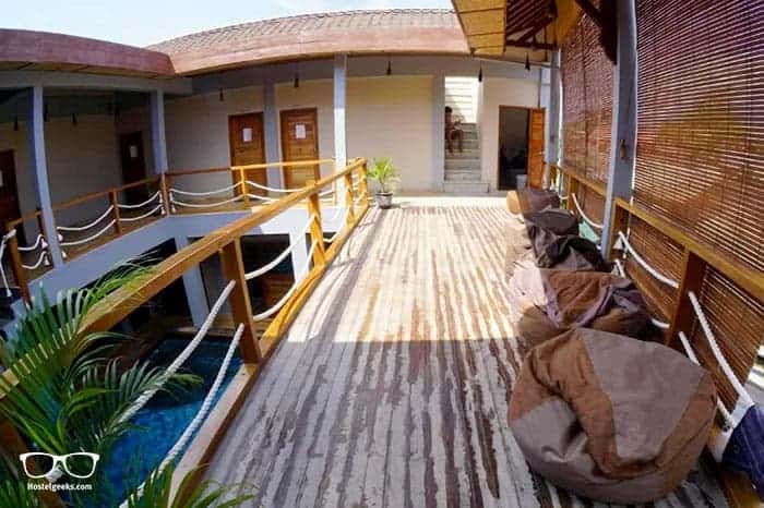 Compass Divers Hostel in Gili Trawangan is one of the best hostels in Bali, Indonesia