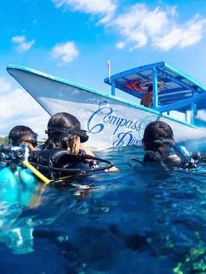 Compass Divers Hostel in Gili Trawangan, Indonesia