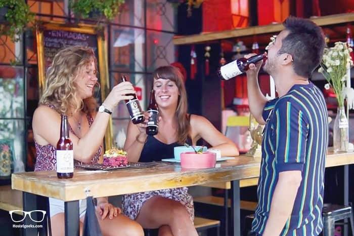 Blue Pepper Hostel & Bar is one of the best hostels in Guadalajara, Mexico