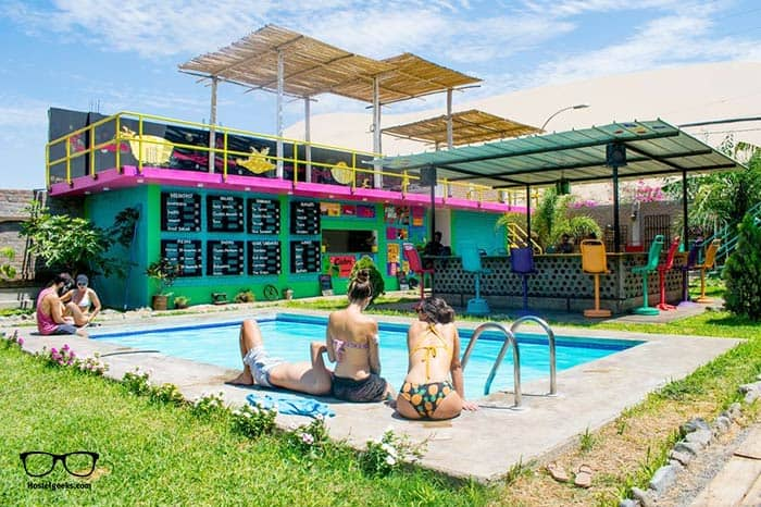 The Upcycled Hostel Huacachina is one of the best hostels in Peru, South America