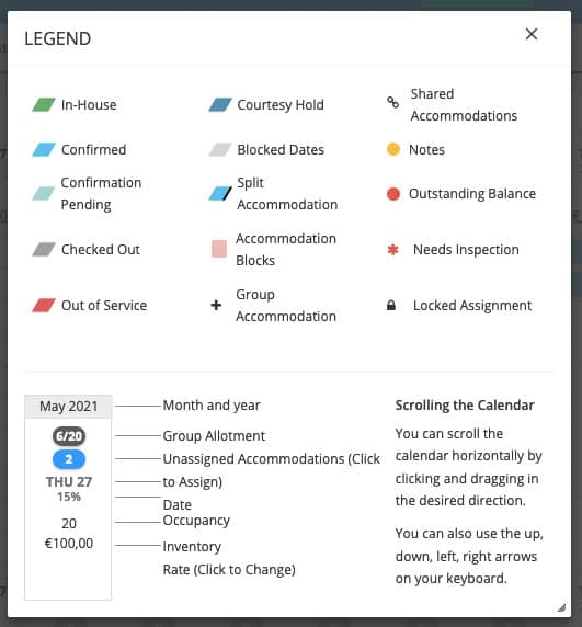 Cloudbeds PMS: Features of the Calendar and how to use effectively