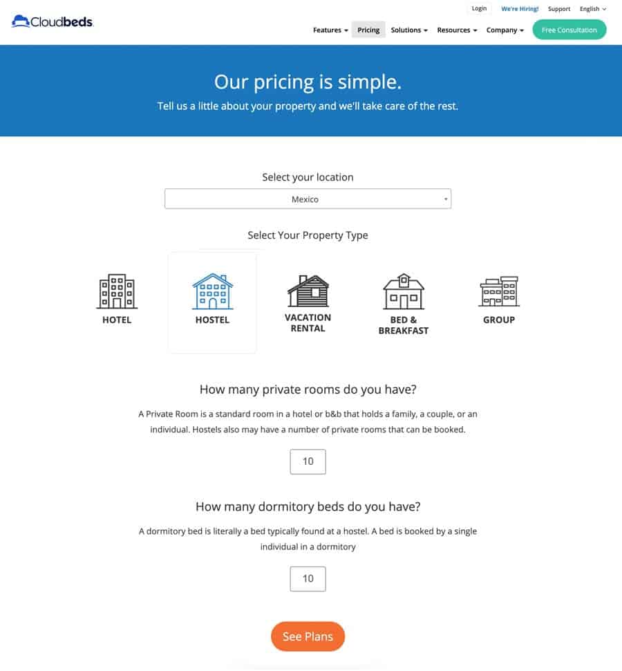 Cloudbeds Prices and Promo Code