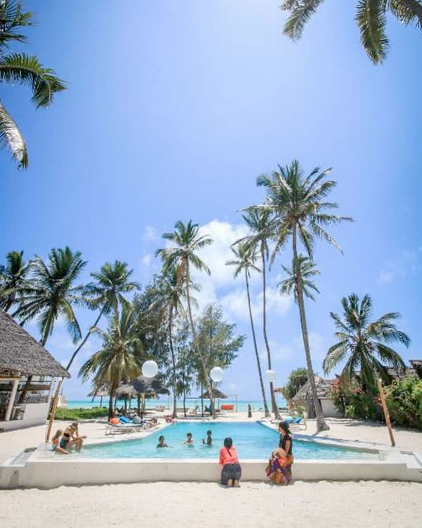 New Teddy's on the Beach is one of the best hostels in Zanzibar, Tanzania
