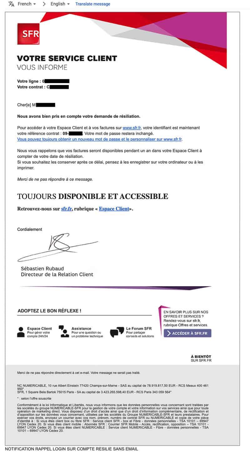 Apologize SFR France Style?