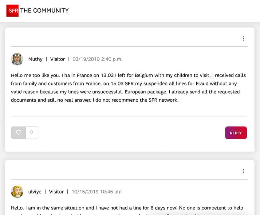 SFR France Review - no Support but taking the money of their customers
